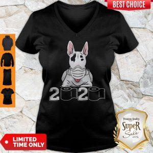 Official Bull Terrier Mask 2020 Toilet Paper V-neck