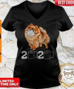Premium Pomeranian Mask 2020 Toilet Paper V-neck