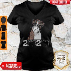 Top Boxer Dog Mask 2020 Toilet Paper V-neck