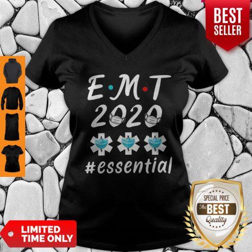 EMT 2020 Essential Quarantine Coronavirus V-neck