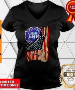 Official Emergency Room And American Flag V-neck