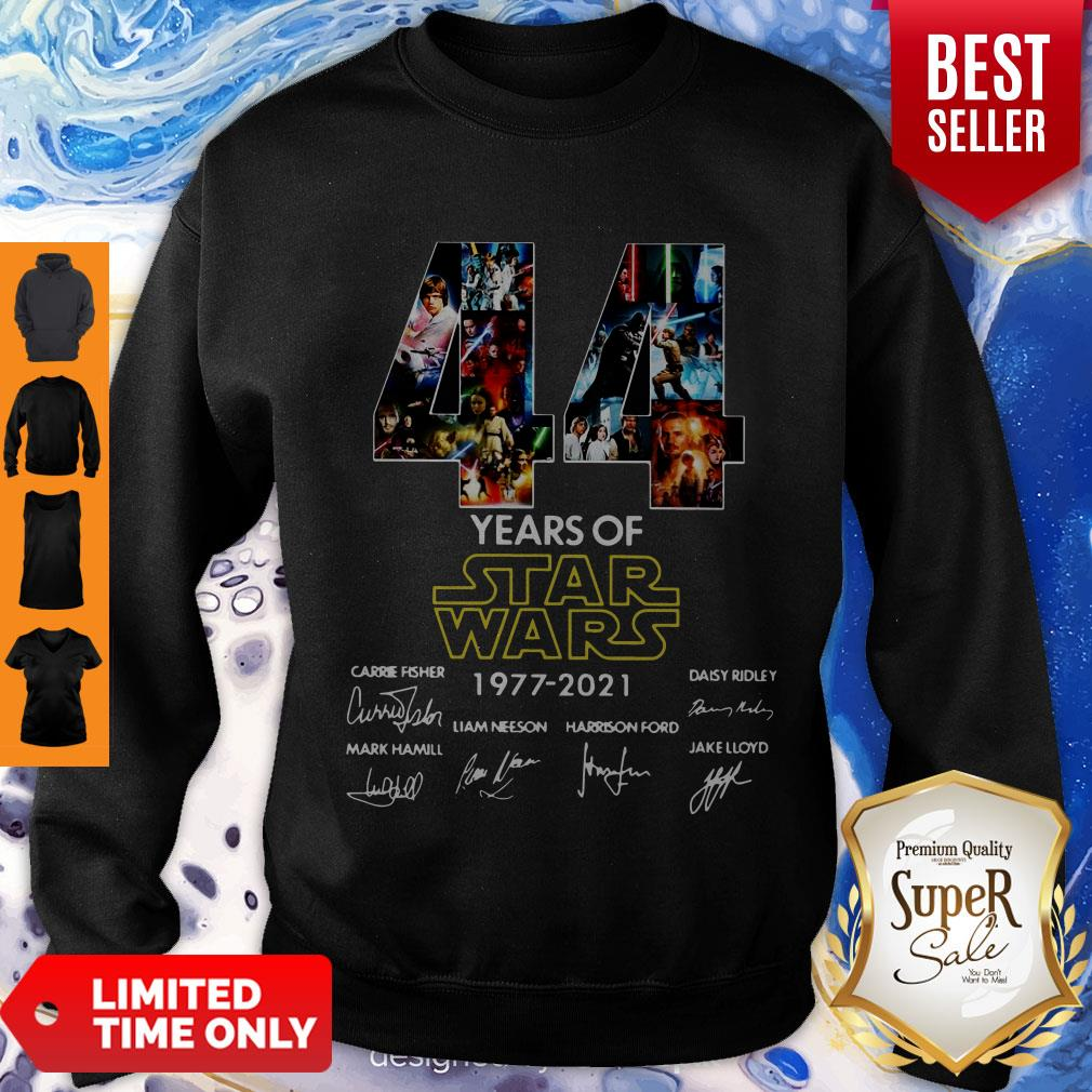 44 Years Of Star Wars 1977 2021 Signatures Shirt - ProposeTees