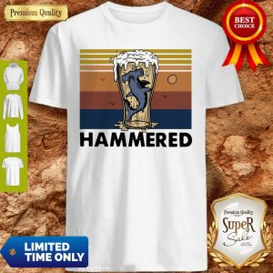 Loving Drinking Beer And Hammerhead Sharks Vintage Womens Shirt