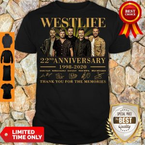 Westlife 22nd Anniversary 1998 2020 Thank You For The Memories Signatures Shirt