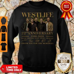 Westlife 22nd Anniversary 1998 2020 Thank You For The Memories Signatures Sweartshirt