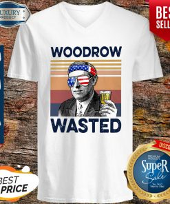 Beautiful American Flag Woodrow Wasted V-neck