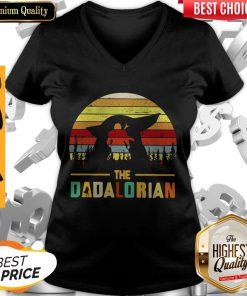 Cute The Dadalorian Vintage V-neck