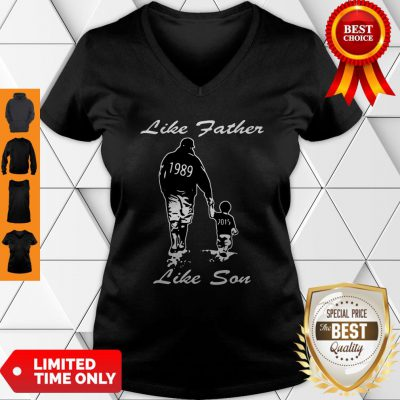 Happy Like Father Like Son New York Yankees Funny V-Neck