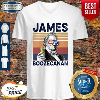 Official American Flag James Boozecanan V-neck