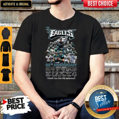 Pro The Philadelphia Eagles 88th Anniversary 1933 2021 Thank You For The Memories Signatures Shirt