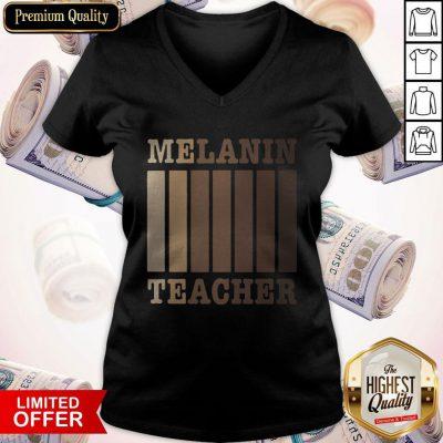 Attractive Melanin Teacher V-neck