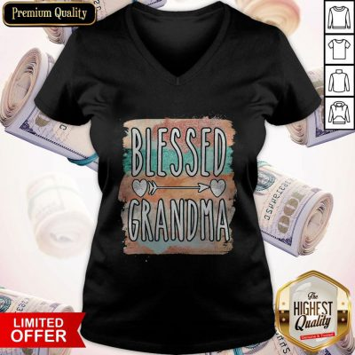 Beautiful Mother Day Blessed Grandma V-neck