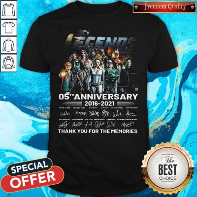 Cute Dcs Legends 05th Anniversary 2016 2021 Thank You For The Memories Signatures Shirt