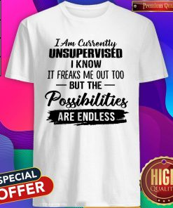 Cute I Am Currently Unsupervised Shirt