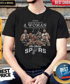 Cute Never Underestimate A Woman Who Understands Basketball And Loves San Antonio Spurs Shirt