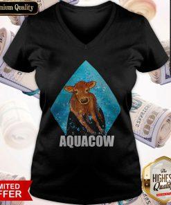 Funny Cow Aquacow V-neck