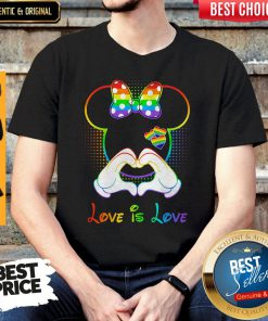 Funny Minnie Mouse Love Is Love Heart Lgbt Shirt