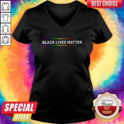 Funny Rainbow Black Lives Matter V-neck