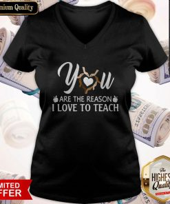 Funny You Are The Reason I Love To Teach V-neck
