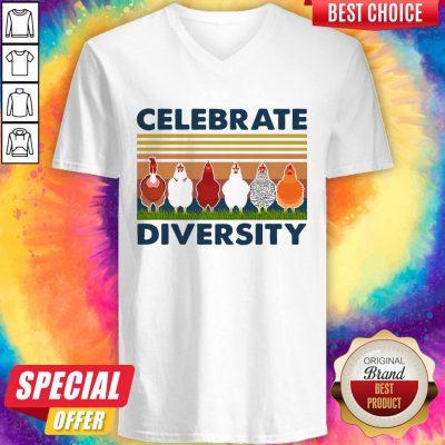 Good Chicken Celebrate Diversity Vintage V-neck