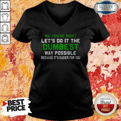 Good Lets Do It The Dumbest Way Possible V-neck