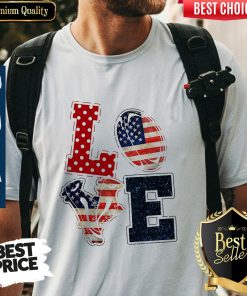 Nice Love Rugby American Flag Veteran Independence Day Shirt