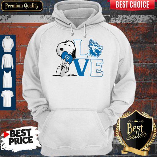 Premium Snoopy Love Cu Cheyney University Of Pennsylvania Heart Hoodie