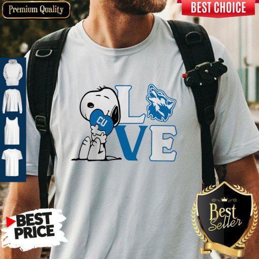 Premium Snoopy Love Cu Cheyney University Of Pennsylvania Heart Shirt