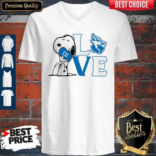 Premium Snoopy Love Cu Cheyney University Of Pennsylvania Heart V-neck