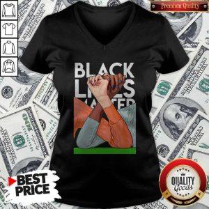 Premium Strong Hand Black Lives Matter 2020 V-neck