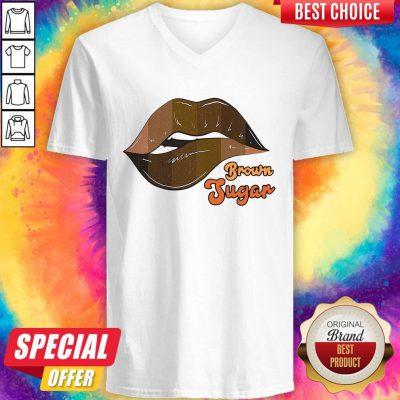 Pretty Brown Jugan Sexy Lips V-neck
