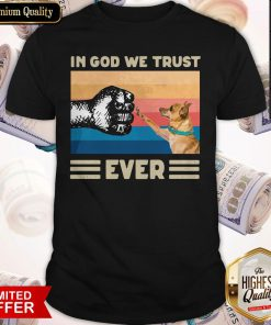 Pretty Pug In God We Trust Ever American Flag Independence Day Vintage Shirt