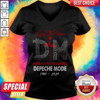 Pro Enjoy The Silence DM Thank You For The Memories Depeche Mode 1980 2020 V-neck