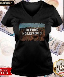 So Beautiful Defund Hollyod V-neck