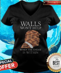 Top Donald Trump Walls Wont Help When The Enemy Is Within V-neck
