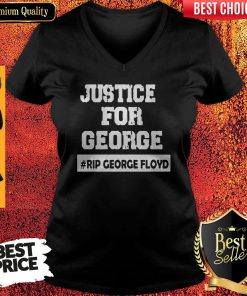 Top George Floyd Rip George Floyd I Can't Breathe Justice For Floyd V-neck
