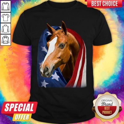 Top Horse American Flag 4th Of July Independence Day Shirt