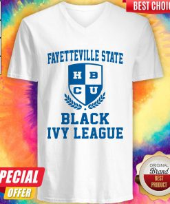 Attractive Fayetteville State BCU Black Ivy League V-neck