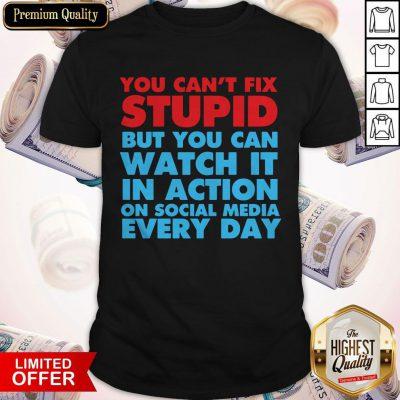 Beautiful If You Cant Fix Stupid Shirt