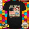 Beautiful Yes I'm A Trump Girl Get Over It Trump 2020 American Flag Shirt