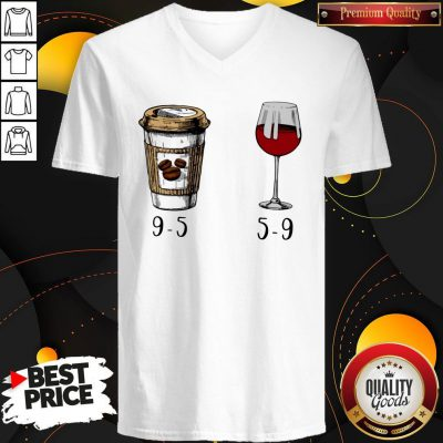 Cute I Want 9 5 Drink Coffee And Wine 5 9 V-neck