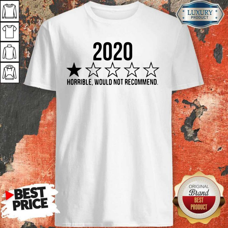 Funny 2020 Horrible Would Not Recommend Shirt