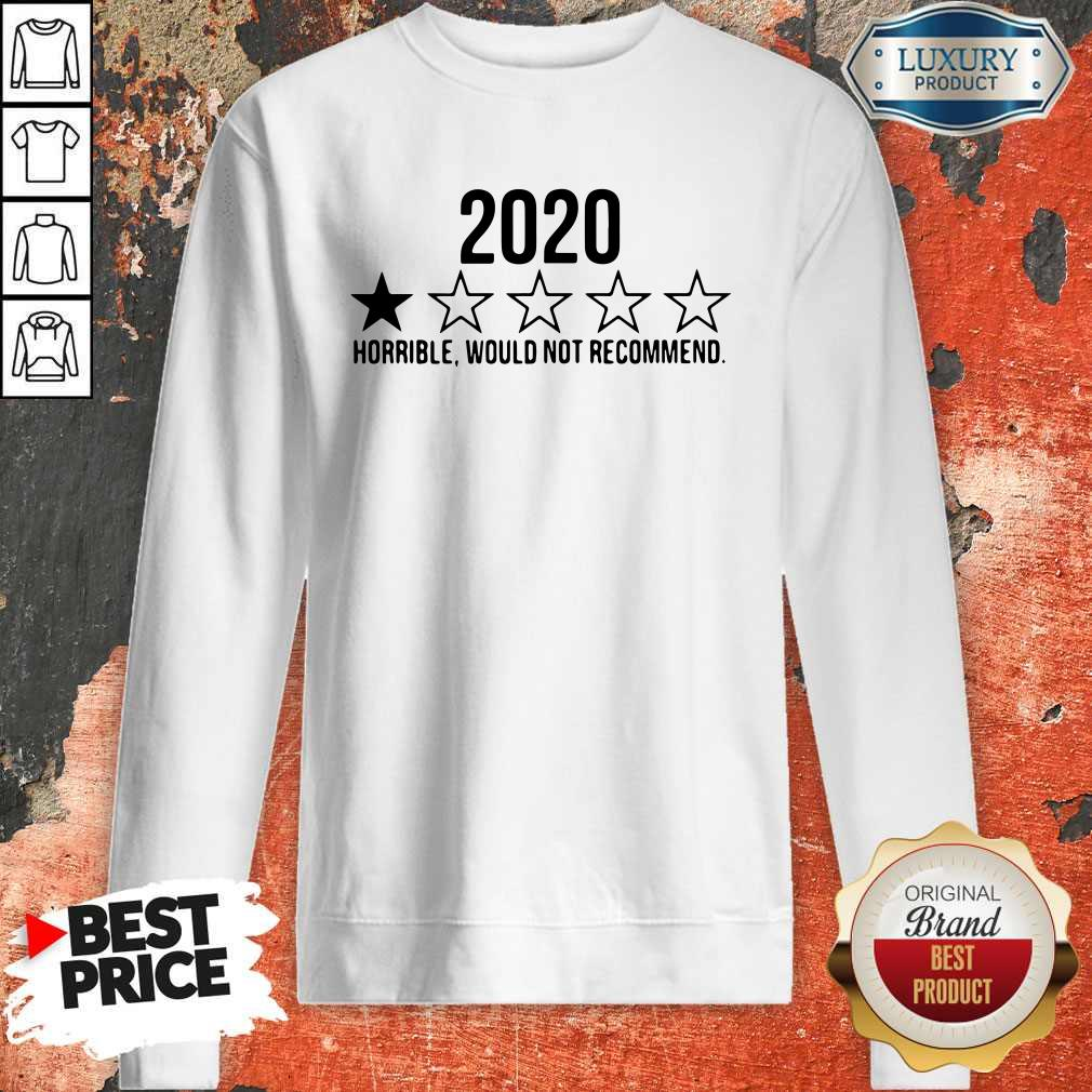 Funny 2020 Horrible Would Not Recommend Sweatshirt