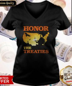 Good Native Honor The Treaties Sunset V-neck