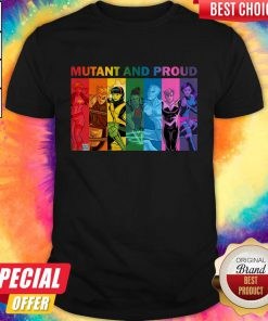 Good Quality LGBT Mutant And Proud Pin On Xmen Shirt