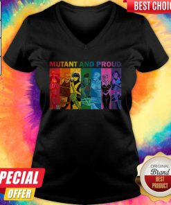 Good Quality LGBT Mutant And Proud Pin On Xmen V-neck
