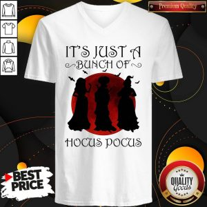 Halloween Witch It'S Just A Bunch Of Hocus Pocus V-neck