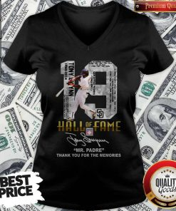 Nice 19 Hall Of Fame Mrpadre Thank You For The Memories Signature V-neck