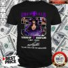 Official 33 Years Of Wrestling 1987 2020 The Undertaker Thank You For The Memories Signature Shirt