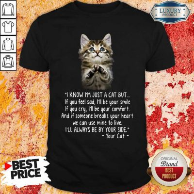 Pretty I Know I'm Just A Cat But If You Feel Sad I'll Be Your Smile Shirt